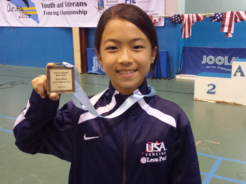 Juliana Hung ranked #1 in Y10 Women's Foil in the nation
