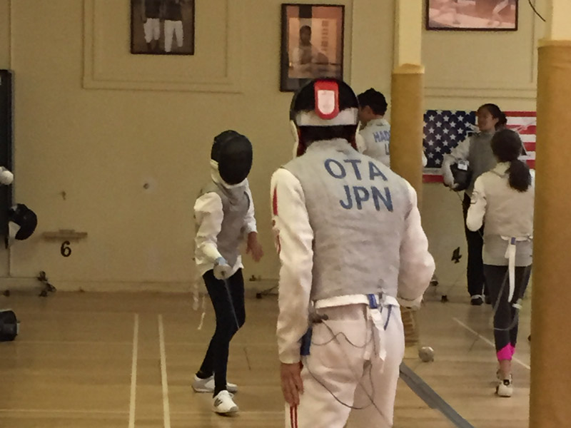 Yuki Ota, Olympic Silver medalist, fencing our young fencers