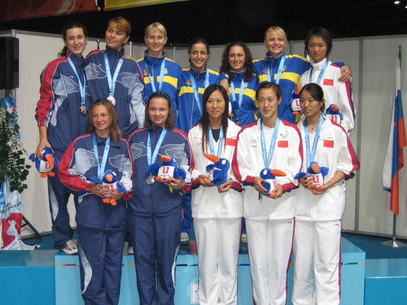 Nadiya Fortunatova on the podium: World University Games team gold medal